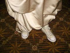 Hell Yeah! (Giusi-gurL) Tags: girl beige shoes dress sneakers converse chuck gown allstar chucks chucktaylors taylors