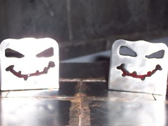 Halloween votive candle holders (3)