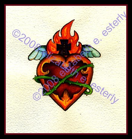 heart tattoos designs. Tee heart tattoo design