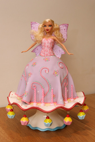 Barbie Cake with fairy wings