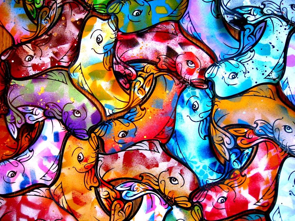 Koi fish tessellation images for Ph for koi fish