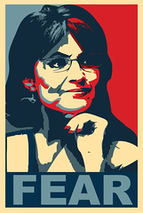 FEAR (aharvey2k) Tags: election vote obama shepardfairey mccain palin knockoff sarahpalin election08
