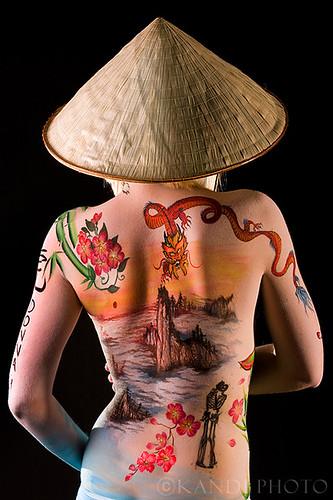 Body Painting - Japanese Body Art Gallery - Artistic body art