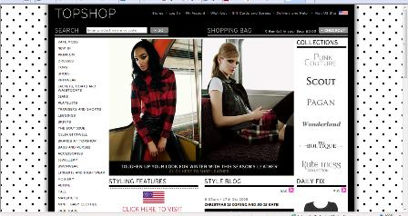 Topshop screen size