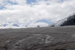 Small men (sabel) Tags: mountain rockies glacier icefield