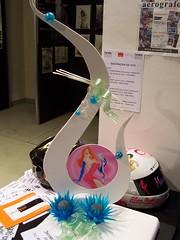 Pièce artistica in Pastigliaggio, zucchero e aerografia. Festival della Creatività 2008 Firenze.