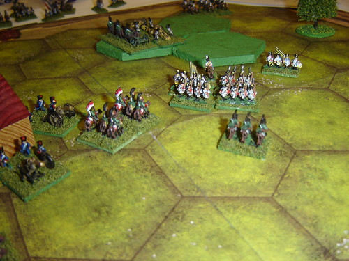 French cavalry attack stopped by Austrians