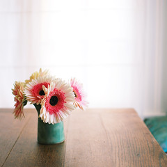 if strangers meet (leslie*thomson) Tags: gerberas sigma30mmf14