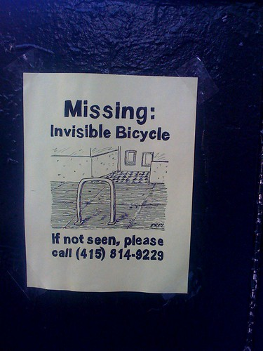 missing: invisible bicycle
