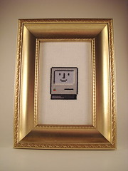 "Another ""Happy Mac"" (benjibot) Tags: apple computer mac crossstitch crafts icon lightbox"