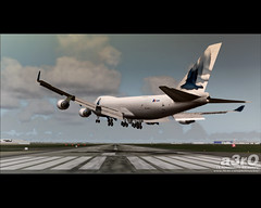 Crosswinds on 32L (a3rO) Tags: boeing tls fs2004 fs9 crosswinds b744 32l flightsimulator2004 pmdg toulouseblagnac lfbo krscargo simwings b747b744f
