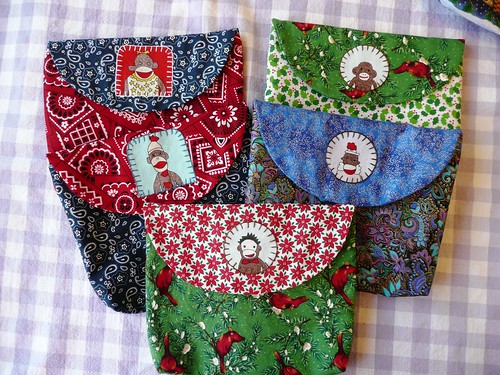 Sock Monkey Pouches