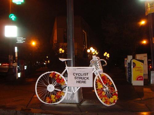 """Cyclist Struck Here"" - Washington, DC"