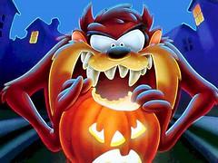 Diablo de Tazmania en Halloween
