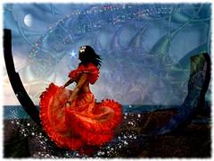 dancing with life (Eddi van W.) Tags: light texture love creativity energy digitalart gimp textures creativecommons ritual meditation spirituality spiritual deepness kreativität spiritualität eddi07