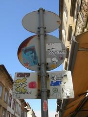 Porto (PORTUGAL) - 2008 (COLT / PITR) Tags: street streetart portugal graffiti team sticker stickers porto crew stick 24 graff colt autocollant pitre stik demark dmk adhsif knx pitr autocollants adhsifs