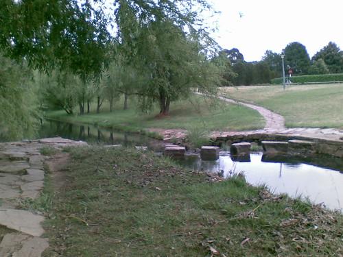 Path across drain