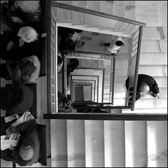 Waiting..... (jesssie) Tags: people bw stairs hospital waiting athens stairwell greece dizzy  aplusphoto     ippokratio