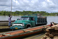 old truck with canoes (wlj) Tags: truck boat colombia canoe atrato quibdo