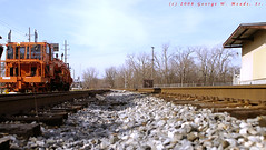 Frog Island (the Photojournalist...) Tags: park autumn outdoors rocks track michigan tracks ypsilanti daytime depottown frogisland