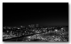 El Segundo Skyline (Daryl's World TTL) Tags: blackandwhite skyline night cityscape f28 elsegundo iso80 canong10