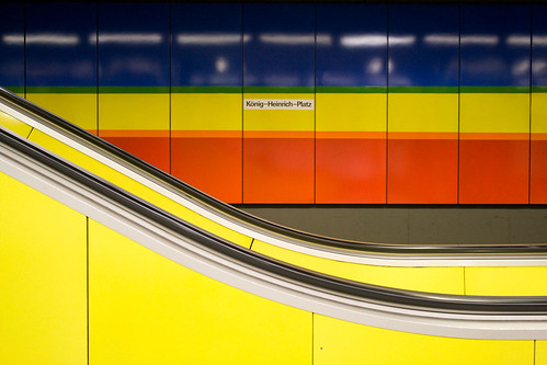 colourful subway