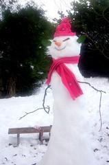 Snow Person... (onceawildchild) Tags: pink winter scotland snowman december explore soe snowwoman snowperson mywinners goldstaraward