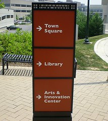 right this way to the sqare, library, & arts center (by: shashiBellamkonda, creative commons)