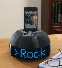 Design SongView iPod alarm clock by momentimedia