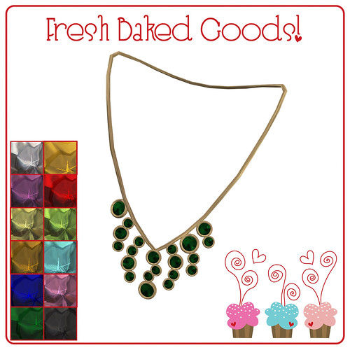 ~*Fresh Baked Goods*~ Jam Gems Thumprint Cookie Necklace