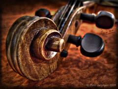 ♪♪♫ ♫♪♪ ♫♫ Violin (Piotr Zerynger) Tags: music bokeh violin fiddle boke ♫ ♪ skrzypce ślimak ♫♫ finepixs6500fd główka