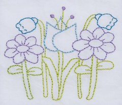 flowers! (Kimberly Ouimet) Tags: flowers spring pattern embroidery patterns stitching bigb handstitching embroiderypattern