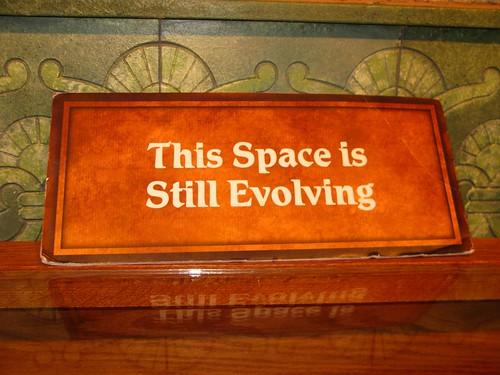 evolving sign