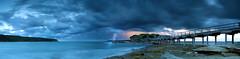 Island of Doom (Tim Poulton) Tags: ocean lighting longexposure storm water clouds nikon sydney bridges australia panoramic laperouse carlzeiss d3x leefilters