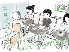 iPad2 + Sketch Book Express でイラスト練習中