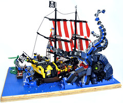 LegoKraken08 (madLEGOman) Tags: original sea black jack lego display pirates case squid pirate octopus caribbean barracuda seas caribean kraken baracuda moc baracudda kracken mckeen baraccuda barracudda madlegoman