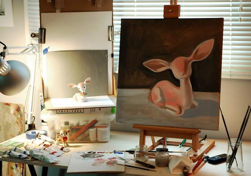 079 - deer painting