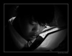 childhood dreams [explored] (e.nhan) Tags: life light portrait white black art closeup dof arts backlighting enhan