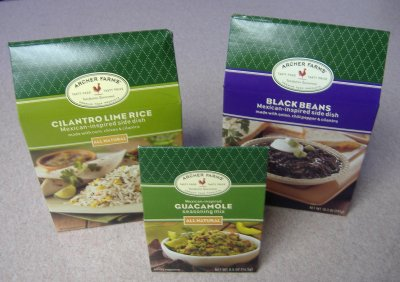 Target's Cilantro Lime Rice, Guacamole Seasoning Mix, and Black Beans