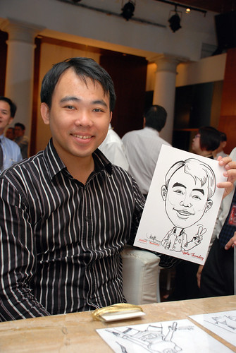 caricature live sketching Singtel Radiance Communications Avaya 4