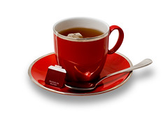Full Red Teacup and Saucer with Teabag Isolated on White (Craig Jewell Photography) Tags: red white cup water silver iso100 break tea tag beverage spoon full f16 string teabreak teacup brew teabag isolated saucer teaspoon 08sec pentaxk10d smcpentaxfa50mmf14 cpjsm craigjewellphotography