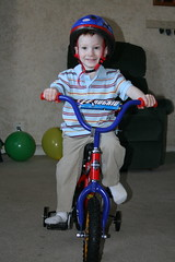 Here's the big present.  Kade LOVED his bike.
