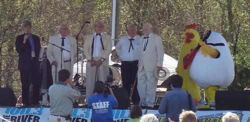 Contestants,Colonel Sanders Look-Alike Contest, Alabama Chicken and Egg Festival, Moulton AL
