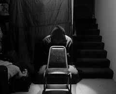 Ghostly (CGK Photography (Discontinued)) Tags: canon rebel people bw blackandwhite cameron chair exposure longchairexposurelong ghost ghostly effect invisible dark moody darkness haunt haunting freaky