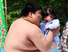Ahmunna Eatchoo! (vyxle) Tags: baby festival japan sensoji japanese tokyo crazy scary tears babies fat c crying sumo scared asakusa wacky wah ahmunnaeatchoo nakizumo