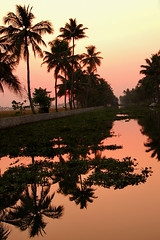 Backwaters Kerala (morten.hammer) Tags: travel red sky sun india seascape reflection nature water nikon d70 symmetry symmetric 5photosaday incrediblenature theindiatree 5halloffame