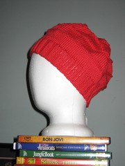 Chemo Hat in Cherry
