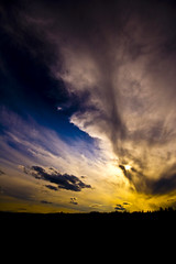Fort McMurray Sky (Chadwise) Tags: blue sky silhouette clouds golden alberta fortmcmurray