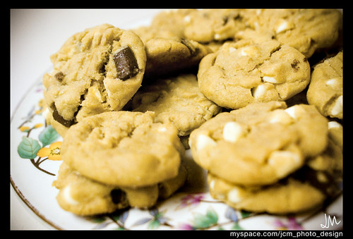Peanut butter white chocolate chip/chocolate chunk cookies