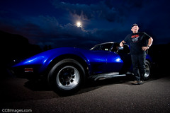Brett and His Corvette (CCBImages) Tags: car night iso100 12mm corvette f4 165s strobist curtisbullock lighting102 workthatcto